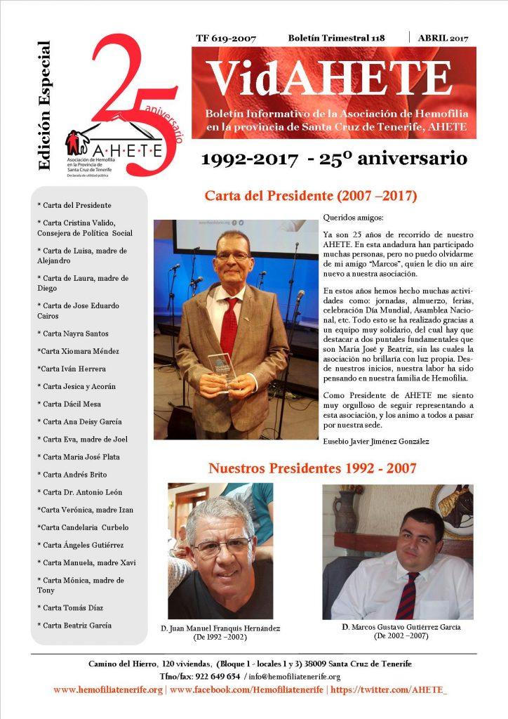 ¡Edición Especial Vidahete 25º Aniversario!