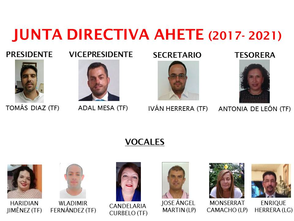 Nueva Junta Directiva de AHETE
