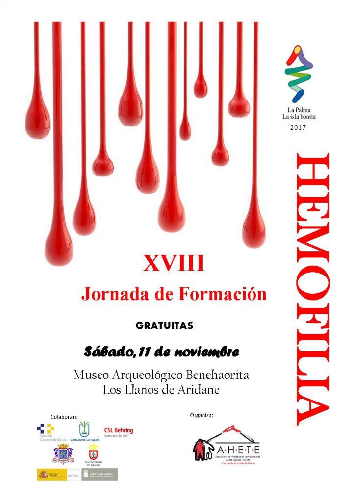 XVII Jornada de formación en Hemofilia, La Palma 2017